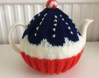 Stars and Stripes Cupcake Tea Cosy - new design, USA cup cake cozy