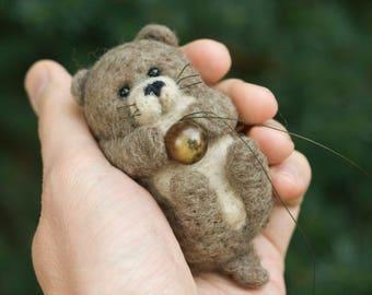 Needle Felted Otter