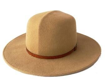 Wool Felt Hat Wide Brimmed Hat Optimo Hat Crushable Hat Camel Hat Safari Hat Panama Hat Travel Hat Beige Hat Custom Hat Fall Hat