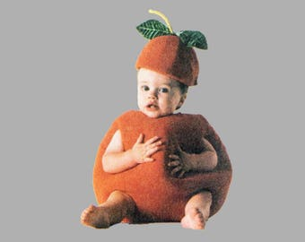 Toddler costume pattern McCall's 3818 FRUIT Lemon Cherry Orange Strawberry Size 1/2 - 4 Uncut FF Beanies stems and leaves Photos by Tom Arma