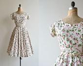 Miss Prim dress | vintage 50s floral dress | floral print 1950s dress
