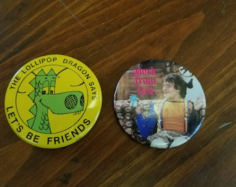Early 80s Button Duo