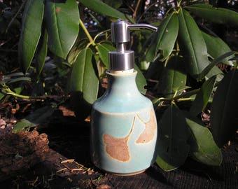 White Oak Soap Dispenser Bottle