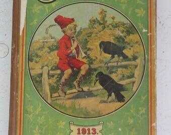 Antique Children's book Chatterbox 1913 Dana Estes & Co. Boston Mass Colonial Press