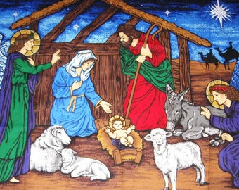 Christmas Nativity Scene Wall Hanging to Sew - Cotton- Cranston Print Works
