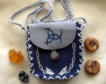 Wandering Wizard Spell Bag, Suede Medicine Bag