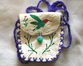 Hummingbird Garden Spell Bag, Medicine Bag
