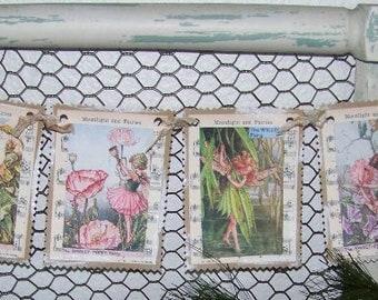 Fairy Banner Vintage Style Fairy Banner Garland Fairy Party Birthday Party Vintage Style