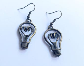 Bright idea bronze earrings