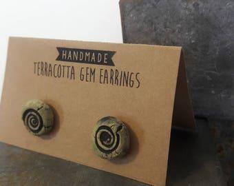 Handmade Terracotta Clay Earrings