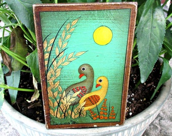 ViNTaGe WHiMSiCaL PiCTuRe - 1970's - TWo BiRDs