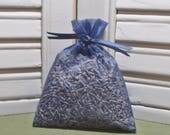 Party favor, blue organza bag, lavender sachet, wedding, new baby, bridal shower, Thank you gift, navy blue, filled with 100% dried lavender