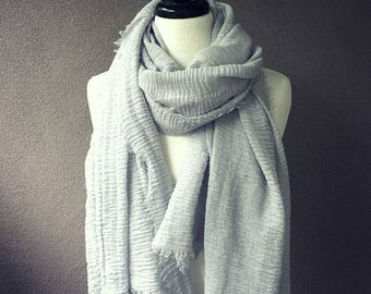 Extra Large women's scarf - organic cotton gauze