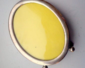 Vintage Sterling Silver Picture Frame - Oval - Table Top.