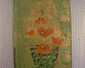 John Greenlead Whittier, Poems Volume II 1898 Antique Little Poetry Book with Poppies on Cover