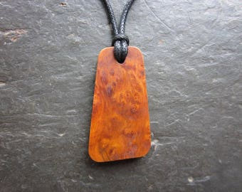Rare Natural Wood Pendant - Alder Burl - for Fire or Water Magic.