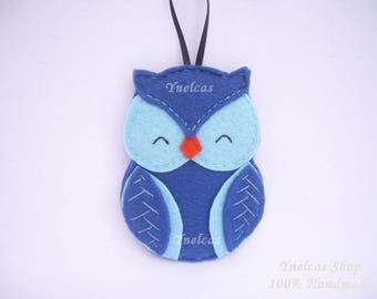 Personalized Owl Ornament - Felt Christmas Ornament - Christmas Ornament - 2017