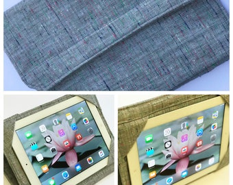 iPad Cover, Samsung Cover, Professor Linen Tweed Standable Tablet Cover Case choose your size