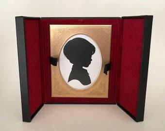 FRAMED Custom Silhouette in Vintage Folding Frame