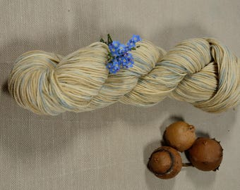 Natural hand dyed Merino fine-Hand Dyed Wool-Sport Weight Yarn - 100 grams - 280m -Azzurro2