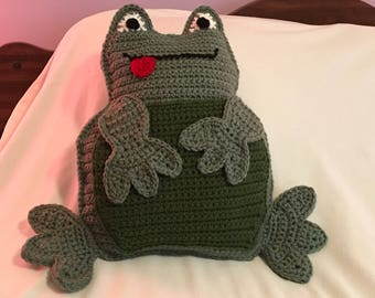 Kenny the frog pillow.
