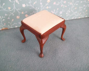 Hand Made Miniature Footstool by Jon Hinrichsen in the 1980s