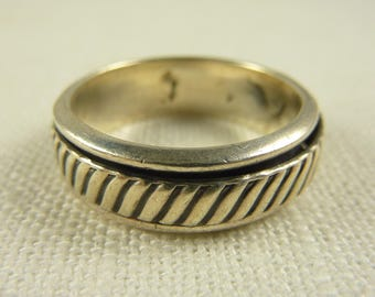 Size 12 Vintage Mexican Sterling Men's Spinner Ring