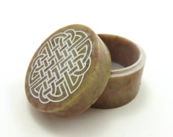 Celtic Knot Soapstone Box - Laser Engraved