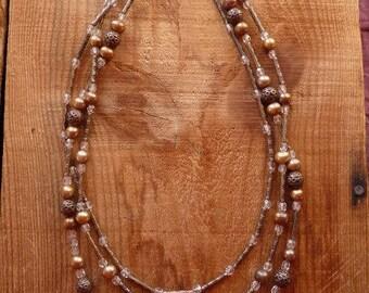 tri-strand copper necklace