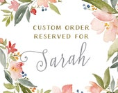 Reserved for Sarah - Custom Watercolor Invitations - Montreal Wedding