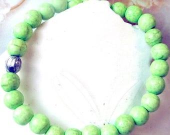 70% SALE magnesite bracelets, green bracelet, pink bracelet, ivory bracelet, turquoise bracelet, stretch bracelets, yellow bracelet