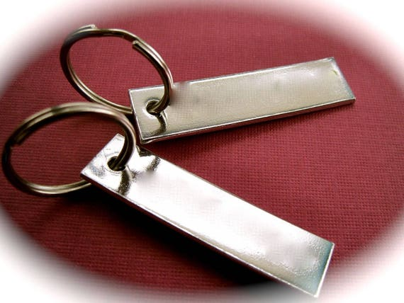 "15 Blanks 1/2"" x 2"" Keychain 14 Gauge Stamping Blanks 1100 Pure Aluminum Food Safe 3mm Hole - QTY 15"