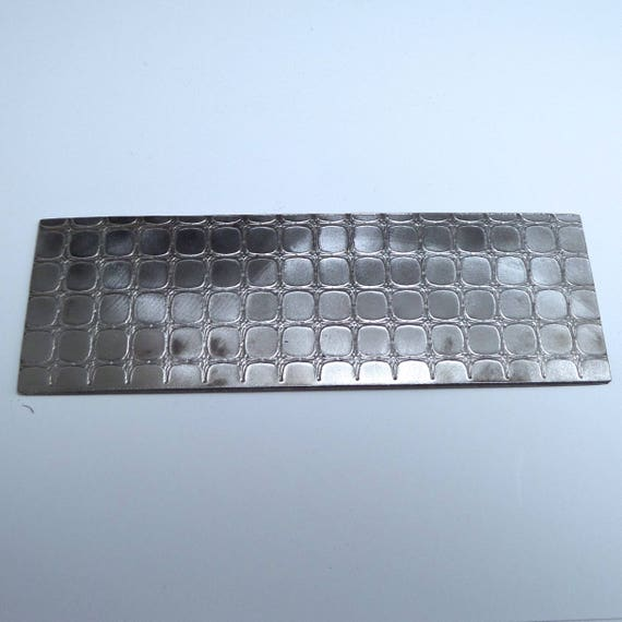 "Alligator Rolling Mill Texture Embossing Plate 2"" x 6"" Steel Texture Plate for Rolling Mill or Hammering - Made in USA"