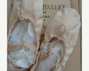 ON SALE Vintage Ballet Shoes Painful Memories Lightly Tattered old Ballet Shoes for altered art unit N09