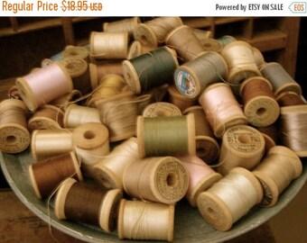 ONSALE Vintage Wooden Thread Spools Victorian Dozen Pcs