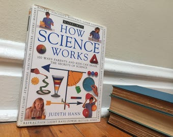 How Science Works Book Vintage Children's Book White Hardcover 1991