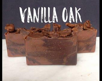 Vanilla Oak Soap - Handmade Soap - Artisan Soap - Bar Soap - Unisex Soap - Perfect Scent For Men and Women - With Silk!