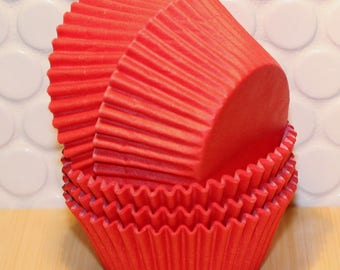 Red Cupcake Liners  (Qty 45)  Red Cupcake Liners, Red Baking Cups, Red Muffin Cups, Cupcake Liners, Baking Cups, Muffin Cups,