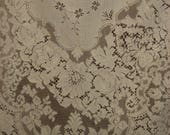 """1920's, 67""""x94"""", white heavy  cotton machine made lace table cloth"""
