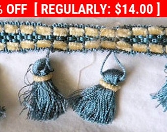 Delightful Vintage French Chenille Tassel Pillow Doll Trim