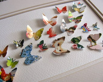 5X7 Sample Eloise Wilkin Vintage Upcycled 3D Butterfly Art or Your Choice of Book Illustrations / Nursery Decor, Baby Shower / Made to Order
