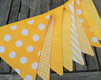 Lemon Birthday Party Decoration, Sunshine Banner Bunting in Yellow, Lemonade Stand Flag Photo Prop
