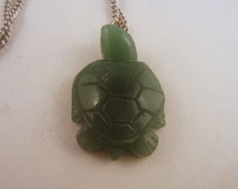 Turtle Pendant necklace jewlery Aventurine
