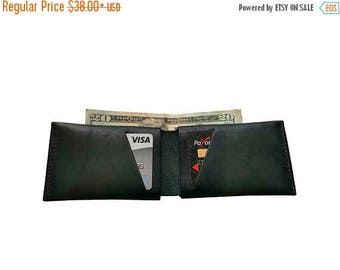 15% OFF Green Leather Slit Wallet Coin Money Purse For Men & Women - Accessories Collection