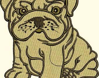Shar Pei Puppy machine embroidery design