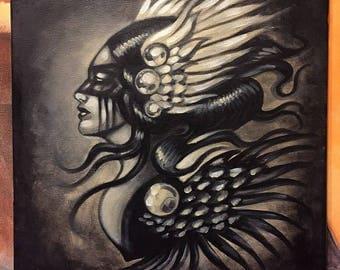 Valkyrie study #1 oil on canvas