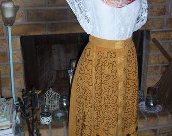 Hippie Boho Festival India Rayon Skirt and Tunic Top Size Small