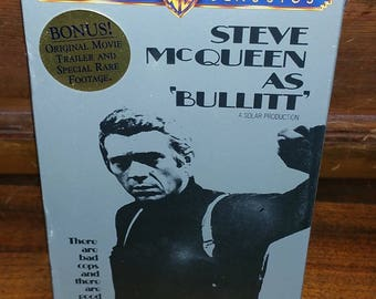 Bullitt Vintage Sealed VHS Cassette Tape