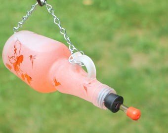 NEW bottle design Fairy Garden Clear Recycled bottle Hummingbird feeder
