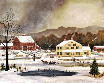 Winter in the Hudson Valley - Limited Edition Print _ by J.L. Munro